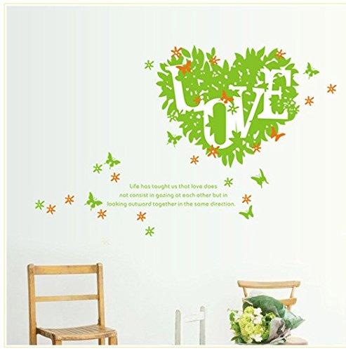 YUCH Aiment Les Fleurs Et l'herbe Message Mural Salon Canapé Sticker Décoratif Mural en Arrière-Plan