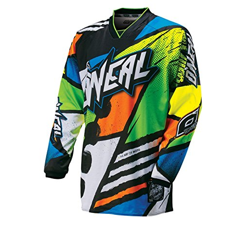 O'Neal Mayhem MX Jersey GLITCH Schwarz Neon Trikot Motocross Enduro Cross Motorrad Offroad Quad, 0023G-40, Größe S