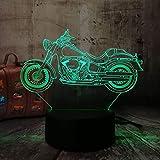 Motorrad Roller 3D Led Nachtlichter Rgb 7 Farben Usb Touch Remote Tischlampe Home Party Decor Kinder Weihnachtsgeschenk