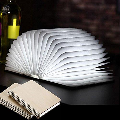 Preisvergleich Produktbild Bazaar LED Buch Form Portable Lamp Lampe Buch Licht Tischleuchte,  éponte Licht-Faltbrett Papier