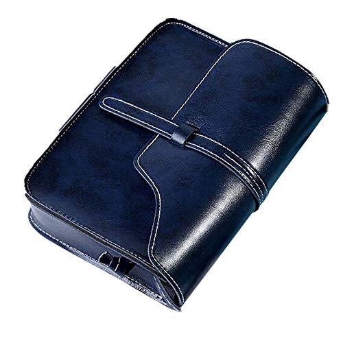 Damen Retro Mini Diagonale Umhängetasche Day.LIN Vintage Geldbörse Tasche Leder Umhängetasche Umhängetasche (Dunkelblau)