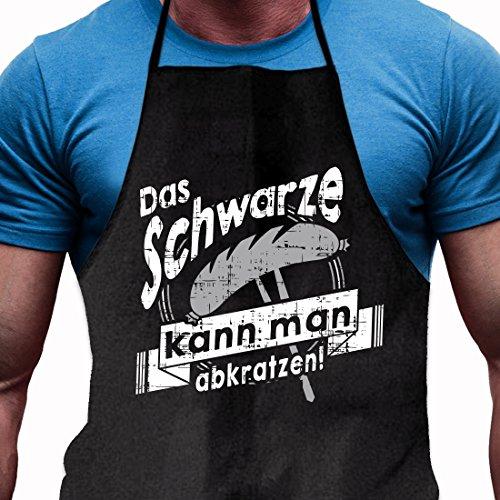Shirtoo Grillschürze Das Schwarze kann man abkratzen - Lustiges Geschenk für echte Männer und Grill-Fans