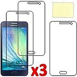 ebestStar - pour Samsung Galaxy A3 SM-A300F (2015) - Lot x3 Film Protection d'écran anti rayures Protecteur Transparent [Dimensions PRECISES de votre appareil : 130.1 x 65.5 x 6.9 mm, écran 4.5'']