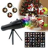 Holiday proiettore luce proiettore, proiettore luci di Natale, Handheld Flashlight, con animazione effetto immagini, 12 vetrini Portable decorative party Lights