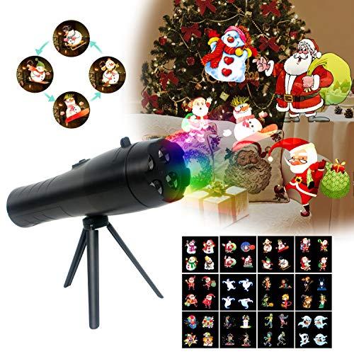 (Anime LED Taschenlampe Projektor Licht, Auto rotierenden Strahler mit Multicolor schaltbar Folien Innenbeleuchtung für Holloween Dekor, Ostern Party)