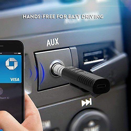 Rednix Wireless Bluetooth Receiver Adapter | Car Bluetooth | AUX Audio  Stereo Music | Hands Free Car Kit