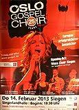 Oslo Gospel Choir - Siegen 2013 - Veranstaltungs-Poster A1