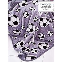 Catherine Lansfield Football Throw Grey, 120x150cm