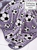 Catherine Lansfield Fußball Überwurf 120x 150cm, Polyester, Grau, 150x 120x 0,5cm