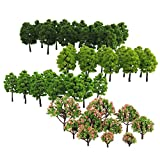 #6: Segolike Lot 70 Pieces 3-9cm Model Trees Architecture Buildings Street Park Garden Greenery 1:75-1:500 Scale
