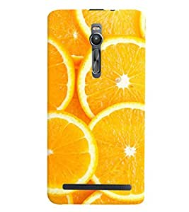 Printvisa Premium Back Cover Sliced Oranges Background Design For Asus Zenfone 2::Asus Zenfone 2 ZE550ML