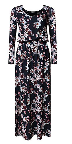 Generic - Robe - Manches Longues - Femme multicolore * taille unique White Blossoms