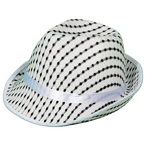Stylischer Hut Psychedelic Tribly Trilby verschiedene Farben Karneval Fasching Faschingskostüm Mottoparty Junggesellenabschied JETZT wieder IN - AL CAPONE (Capone Erwachsene Hut)