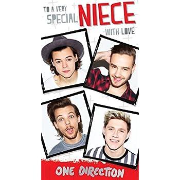 One Direction Birthday Girl Birthday Greeting Card Amazoncouk