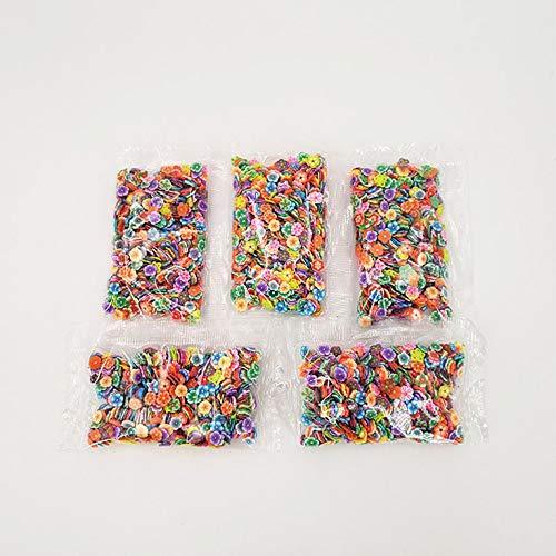 Peepheaven Slime Slices Fruit Slices DIY Artisanat Décorations pour Soft Clay & Nail Art - Multicolore