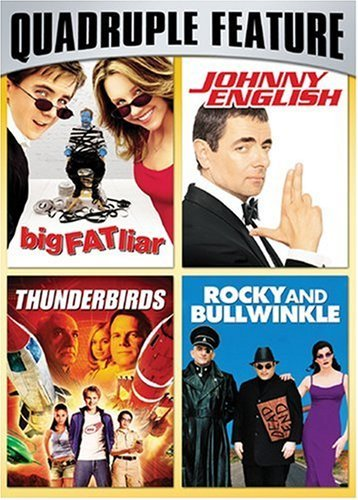 Family Fun Pack Quadruple Feature (Big Fat Liar / Johnny English / Thunderbirds / Rocky and Bullwinkle) by Frankie Muniz (Bullwinkle-dvd)