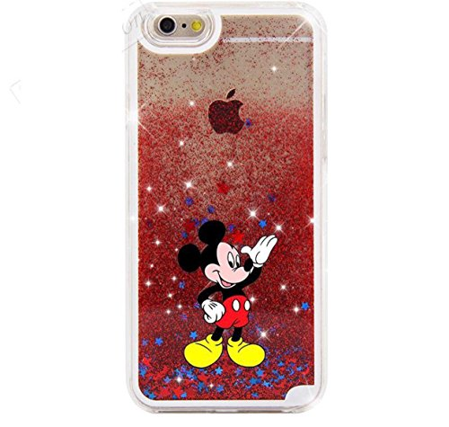 Phone Kandy® Hart Transparent Shell Glitter Stars Sparkle iPod Touch 5 / 6 Kasten mit Karikatur Hülle Abdeckung Haut tascen (iPod Touch 5 / 6, Mickey) (Minnie Mouse Mp3-player)
