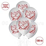 Palloncini Matrimonio sposi decorazioni addobbi festa Gas elio Party wedding 100pz