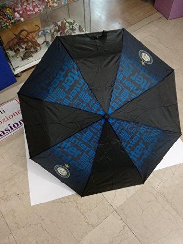 Perletti - F.C. Inter Mailand - Taschenschirm / Minischirm / Kinderregenschirm - Automatik - Schwarz und Blau