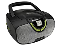Roadstar Portable Stereo System with CD/MP3 Player, USB and AM/FM Radio - Green