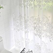 mouldproof EVA Douche imperméable Epaississant rideau Mildiou toilettes Rideau de douche fleur blanche fleur rideau (200 * 180cm / 200 * 200cm / 200 * 220cm / 200 * 240cm) Séchage rapide ( taille : 200*220CM )
