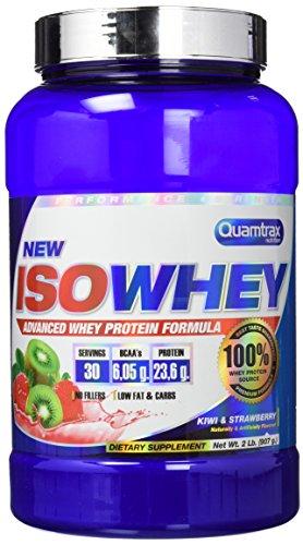 Quamtrax Nutrition QTX0297 - Suplementos de proteínas con aroma de fresa y kiwi, 907 gr