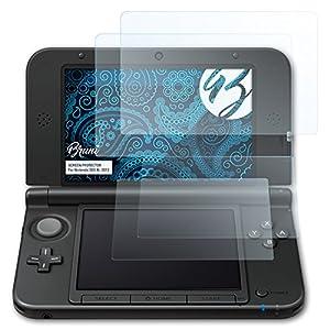 Bruni Schutzfolie für Nintendo 3DS XL 2012 Folie, glasklare Displayschutzfolie (2er Set)