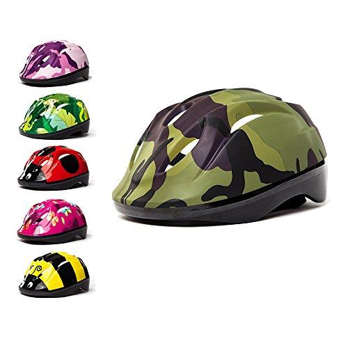 3Style scootersâ –Kinder Fahrradhelm in Camouflage Grün Design–für Radfahren, Skaten, scooting–verstellbare Kopfbügel 53cm 54cm &...