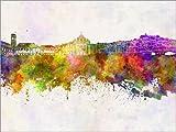 Posterlounge Forex-Platte 130 x 100 cm: Coimbra-Skyline von Editors Choice
