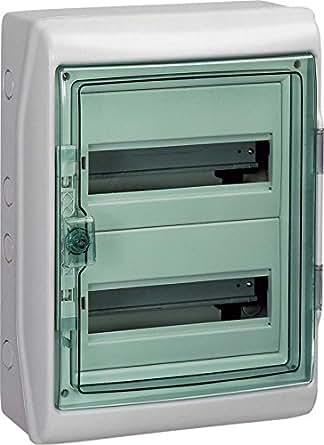 Schneider Electric 13964 Kaedra Coffret pour Appareillage Modulaire, IP65, 24 Modules, 340 mm Largeur, 460 mm Hauteur, 160 mm Profondeur, 63 A