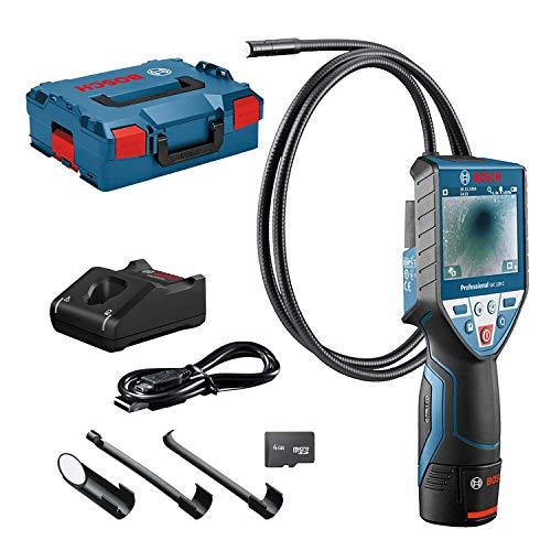 Bosch Professional 0601241201 120 C Inspektionskamera, 1x 2,0 Ah Akku, 4GB MicroSD Karte, Micro-USB-Kabel, GIC Kamerakabel, LED-Licht, 10,8 V, L-Boxx, 1 W, 240 V