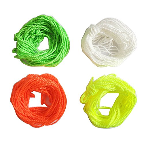 40 Yoyo Schnüre Ersatzschnüre Yoyo Strings (10 Stück - Leuchtstofflampen: hellgrün, gelb, Orange und weiß)