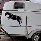 springendes Pferd Modell 2 Aufkleber Anhänger Pferd Anhänger ca. 60x50cm