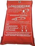 Feuerlöschdecke Löschdecke Feuer-Löschdecke Erste Hilfe 1x1m EN1869 , iapyx®