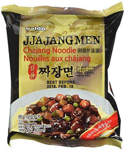 Paldo Ilpoom Jia Jangmen (Chajang Noodle) 120g (Pack of 4)