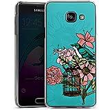 Samsung Galaxy A3 (2016) Housse Étui Protection Coque Oiseau Fleurs Fleurs