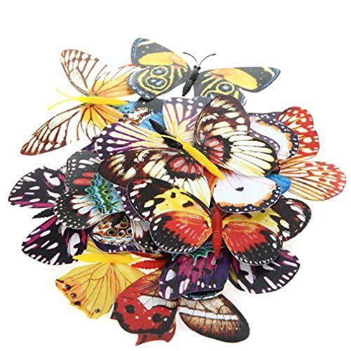 Carry stone Dekoration Schmetterling Clip Künstliche Schmetterling Luminous Pin Clip Für Home Weihnachten Hochzeit Dekoration, Farben Nach Dem Zufall 20 stücke Set Size10cm