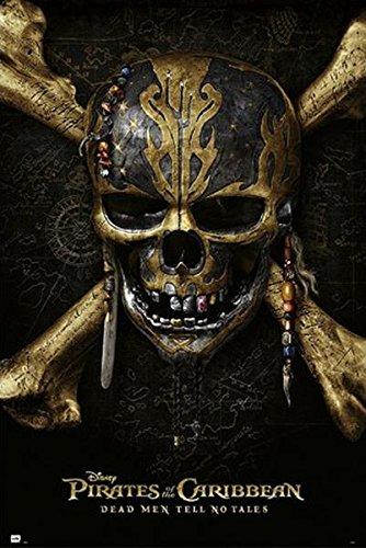 Póster Piratas del Caribe: La Vengaza de Salazar. Calavera