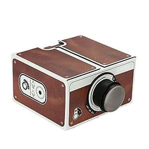 Andoer Portable Carton Smartphone Projecteur V2.0 / Bricolage Mobile de Téléphone Projecteur Portable Cinéma pour Smart Phone