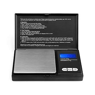 200g/0,01g Taschenwaage - Ascher Digitale Taschenwaage, 200 x 0,01 g, Taschenwaage Feinwaage Digitalwaage Goldwaage Münzwaage