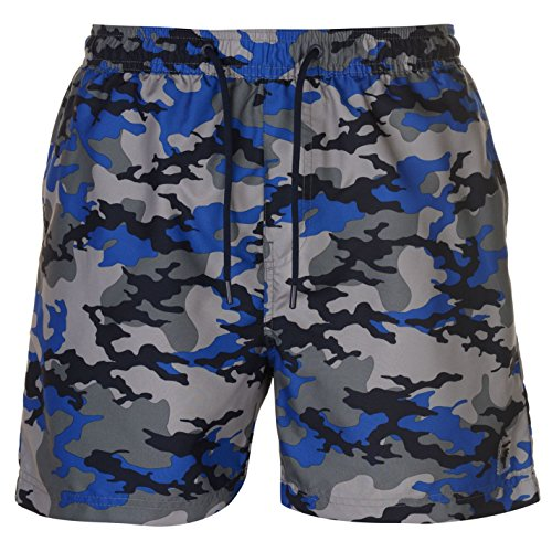Pierre Cardi - Bañador - para Hombre Bleu Camouflage M