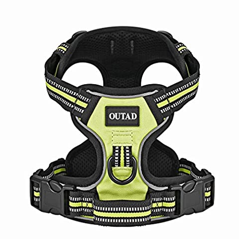 Dog Vest Harness with Leash,Dpower Luxury No Pull Pet Dog Harness 3M Reflective Nylon Lightweight Dog Walking Harness Padded Vest with Breathable Mesh for Outdoor Training Sports Adventure(S,