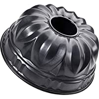 Zenker Gugelhupfform Ø 25 cm DELUXE, Kuchenform aus Stahlblech mit Antihaftbeschichtung, runde Backform für saftigen Gugelhupf (Frabe: Schwarz metallic), Menge: 1 Stück
