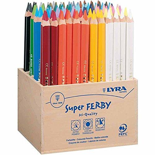 LYRA 3722960 Super Ferby 96 Dickkern-Buntstifte lackiert im Holzaufsteller