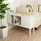 Willsego Nachttische Massivholz Möbel Moderne Schlafzimmer Schrank 74,5 * 28 * 46 cm (Farbe : Weiß, Größe : -)