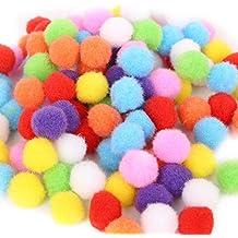 Kentop 500pcs pompons colorati Mini pon pon palline soffice peluche palline COLORI  ASSORTITI Pom Pom sfere d1f449cb3964