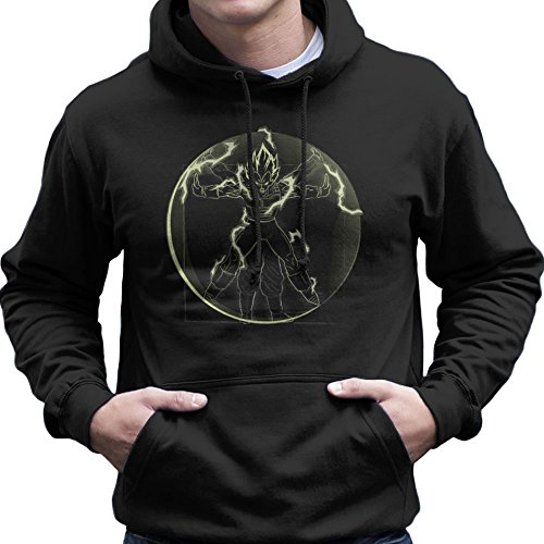 Vitruvian Saiyan Vegeta Dragon Ball Z Men's Hooded Sweatshirt