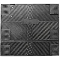 DomDeco Anti-Vibrationsmatte aus schwarzem Gummi, 62x55cm, Gummimatte, Vibrationsdämpfer für Waschmaschine, Wäschetrockner, Spülmaschinen oder auch für Fitness- und Sportgeräte