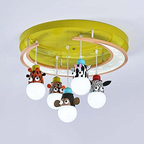 Top-selling-laterne (Unterputzleuchte Kinderzimmer Augenschutz LED Karikatur Tier Laterne Runden Kinderzimmer Holzkunst Deckenleuchte (E27 * 5) ( Farbe : LED 85W - White light ))