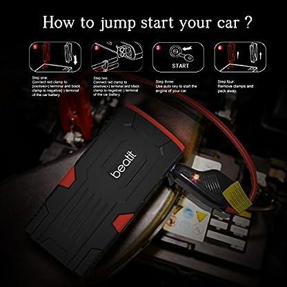 515MTZA2FfL. SS416  - Beatit D11 800 A pico 18000 mAh 12 V arrancador de coche portátil (hasta 7,5 L de gas o 5,5 L diésel) con Smart Jumper Cables Auto batería Booster Power Pack